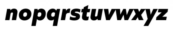 Quiet Sans Extra Bold Italic Font LOWERCASE