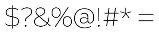 Quiet Sans Extra Light Font OTHER CHARS