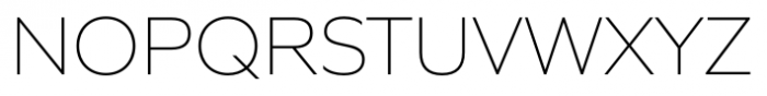 Quiet Sans Extra Light Font UPPERCASE
