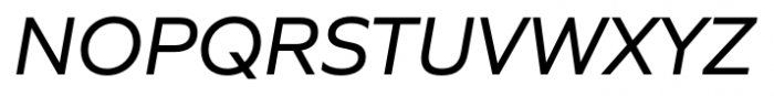 Quiet Sans Italic Font UPPERCASE