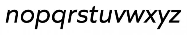 Quiet Sans Italic Font LOWERCASE