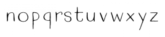 Quimbly Light Font LOWERCASE