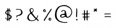 Quimbly Regular Font OTHER CHARS