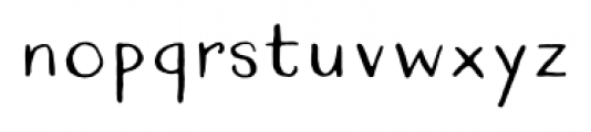 Quimbly Regular Font LOWERCASE