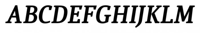 Quiroga Serif Pro Bold Italic Font UPPERCASE