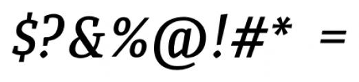 Quiroga Serif Pro DemiBold Italic Font OTHER CHARS