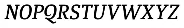 Quiroga Serif Pro DemiBold Italic Font UPPERCASE
