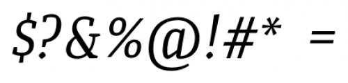 Quiroga Serif Pro Italic Font OTHER CHARS