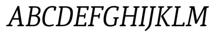 Quiroga Serif Pro Italic Font UPPERCASE