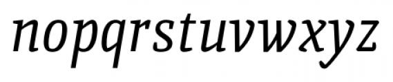 Quiroga Serif Pro Italic Font LOWERCASE