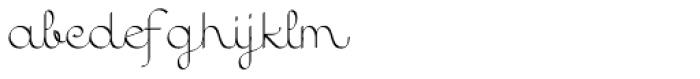 Quaderno Calligraphic Font LOWERCASE