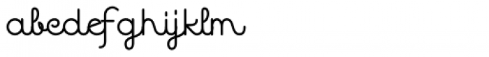 Quaderno Noodle 33 Font LOWERCASE