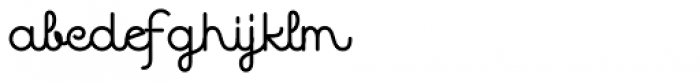 Quaderno Noodle 36 Font LOWERCASE