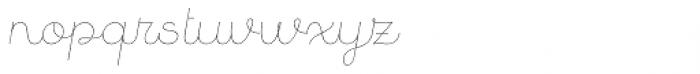 Quaderno Noodle Slanted 5 Font LOWERCASE