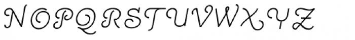 Quaderno Slanted 15 Font UPPERCASE