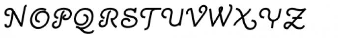 Quaderno Slanted 25 Font UPPERCASE