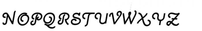 Quaderno Slanted 30 Font UPPERCASE