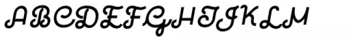 Quaderno Slanted 33 Font UPPERCASE
