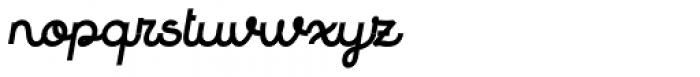 Quaderno Slanted 33 Font LOWERCASE