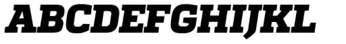 Quadon UltraBold Italic Font UPPERCASE