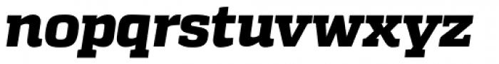 Quadon UltraBold Italic Font LOWERCASE