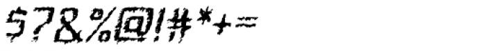 Quadrat Ugly Italic Font OTHER CHARS