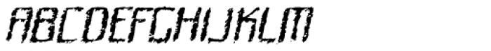 Quadrat Ugly Italic Font UPPERCASE