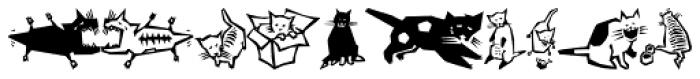 Quadru Pets EF Cats Font UPPERCASE
