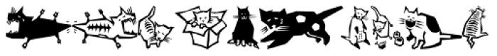 Quadru Pets EF Cats Font LOWERCASE
