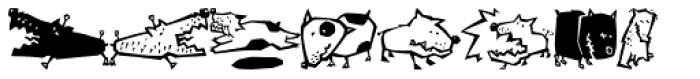 Quadru Pets EF Dogs Font UPPERCASE