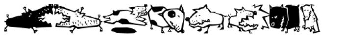 Quadru Pets EF Dogs Font LOWERCASE