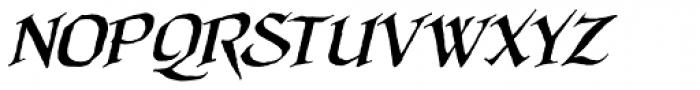 Quahog BB Bold Italic Font UPPERCASE
