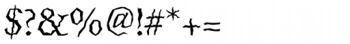 Quake Std Font OTHER CHARS
