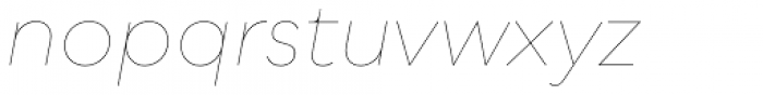 Qualion Oblique Hairline Font LOWERCASE