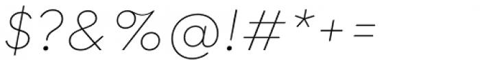 Qualion Oblique Thin Font OTHER CHARS