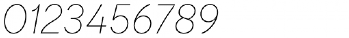 Qualion Thin Italic Font OTHER CHARS