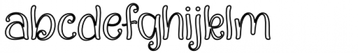 Quality Capcay Black Light line Font LOWERCASE