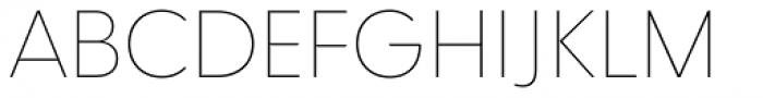 Qualta Extra Light Font UPPERCASE