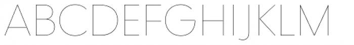 Qualta Thin Font UPPERCASE