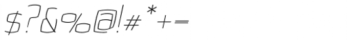 Quam Thin Italic Font OTHER CHARS