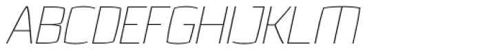 Quam Thin Italic Font UPPERCASE