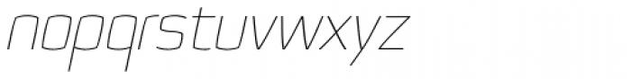 Quam Thin Italic Font LOWERCASE