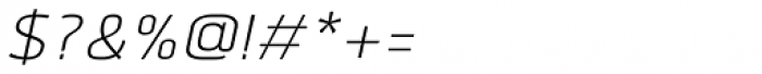Quan Light Italic Font OTHER CHARS