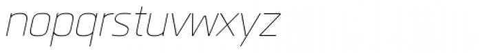 Quan Rounded Thin Italic Font LOWERCASE