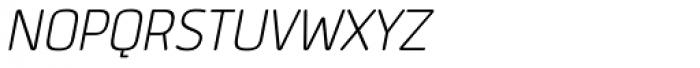 Quan Slim Rounded Light Italic Font UPPERCASE