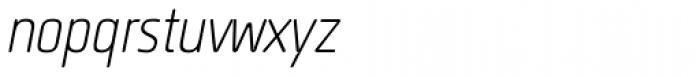 Quan Slim Rounded Light Italic Font LOWERCASE
