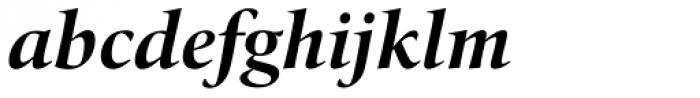 Quant Bold Italic Font LOWERCASE