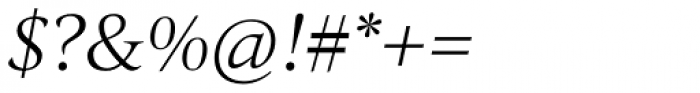 Quant Light Italic Font OTHER CHARS