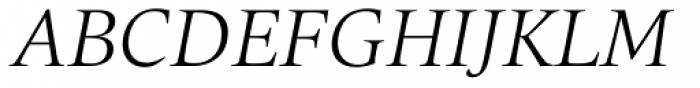 Quant Light Italic Font UPPERCASE