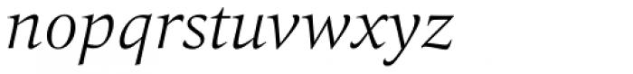 Quant Light Italic Font LOWERCASE